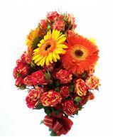 Снимка от Букет от гербери и  мини рози - Благополучие