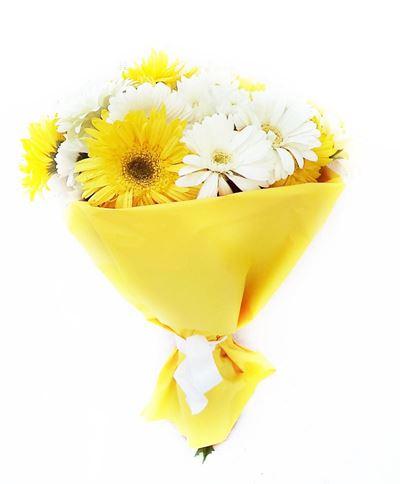 Снимка от Букет от гербери и хризантеми - Слънчев лъч