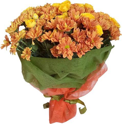 Снимка от Букет от мини рози и хризантеми Специален