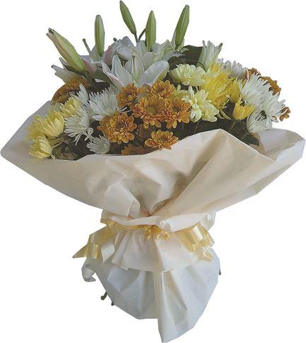 Снимка от Букет от хризантеми и лилиум Нестихваща любов