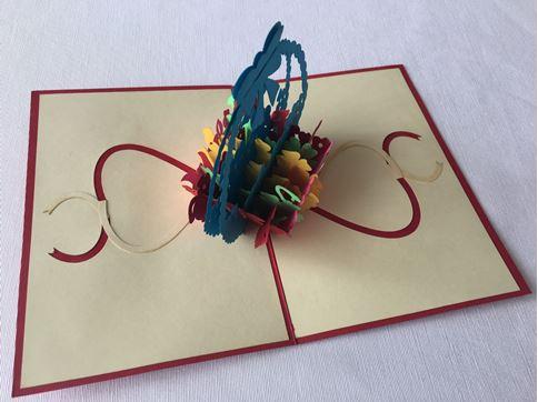 Снимка от Разкощна кошница в картичка