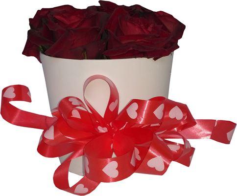 Снимка от Кутия с рози Нежен миг - 7 рози