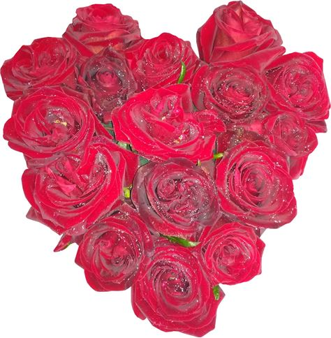 Снимка от Сърце от рози Обич - 17 рози