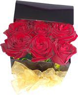 Снимка от Кутия с рози Страст - 9 рози