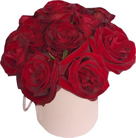Снимка от Кутия с рози Влюбеност - 15 рози