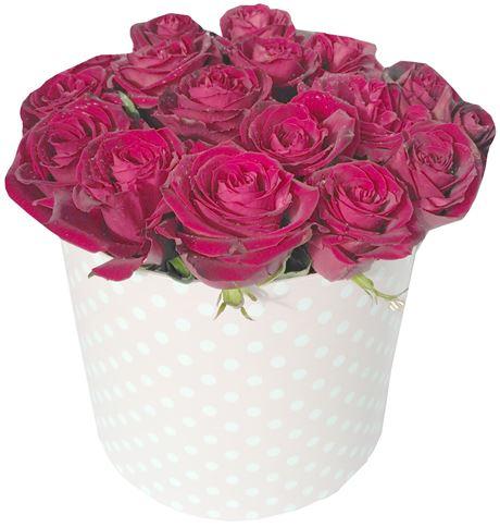 Снимка от Кутия с рози Еуфория - 17 рози