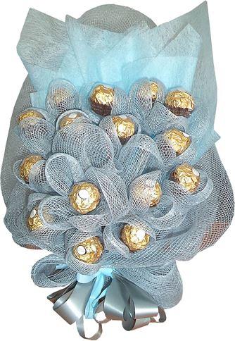 Снимка от Букет с бонбони Сребърен