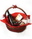 Снимка от Малка Коледна кошница в червено